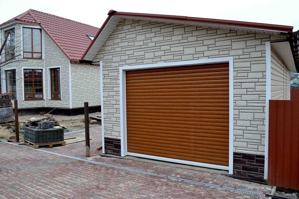Внешняя отделка гаража по материалам и способу выполнения работы