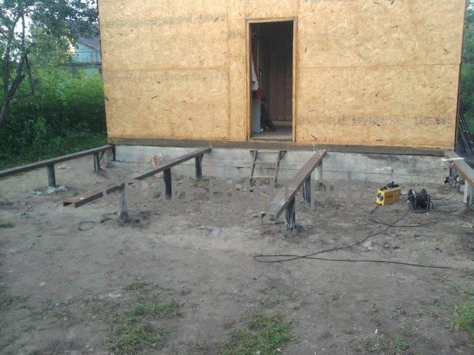 Каркасный дом на свайном фундаменте своими руками