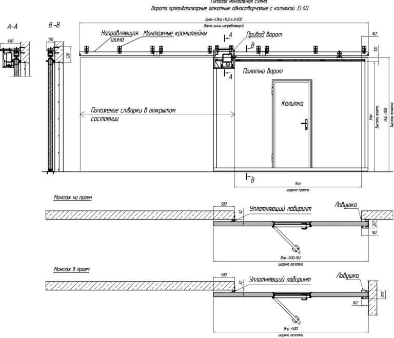 Как установить откатные ворота - 10 ошибок. инструкция и схема подключения автоматики.