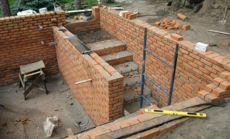 Строительство гаража из кирпича – как сделать все этапы своими руками