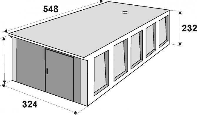 Гараж на даче из железобетонных конструкций
