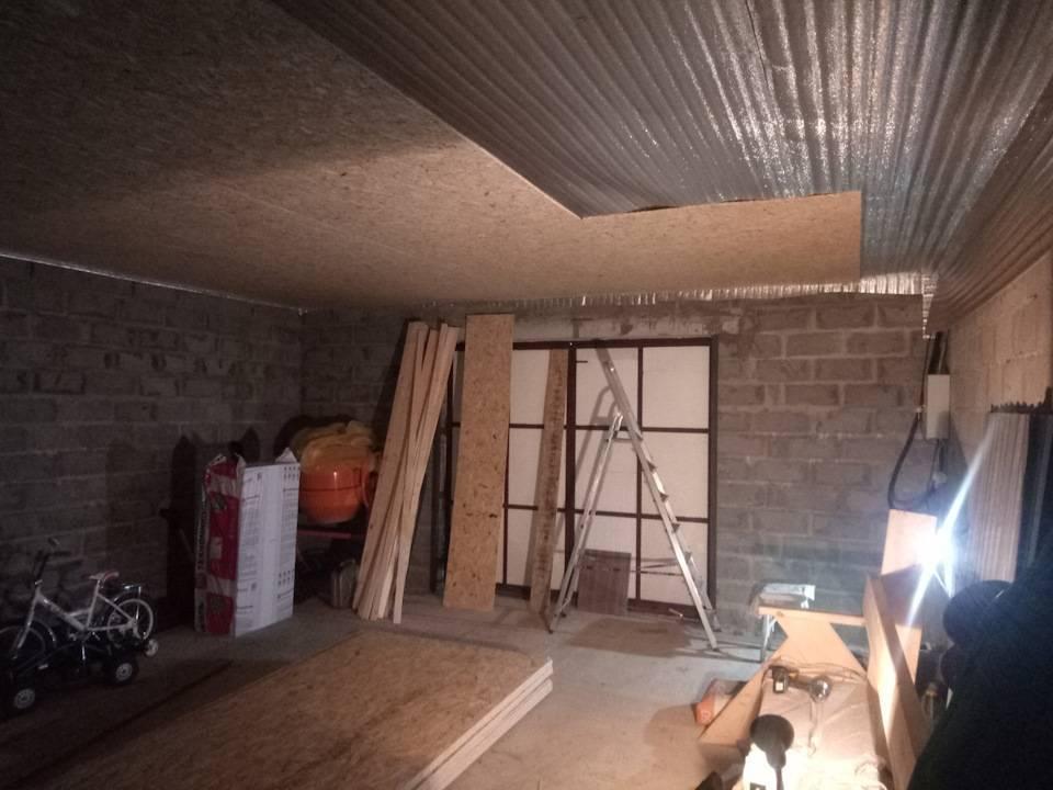 Как правильно сделать потолок в гараже