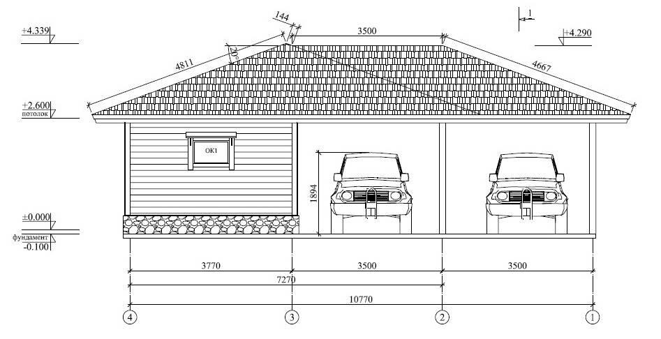 Размеры стандартного гаража для одного автомобиля