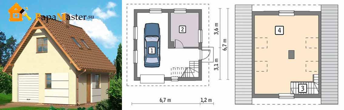 Дом с гаражом под одной крышей — выгоды и преимущества постройки и основные конструкции (90 фото)