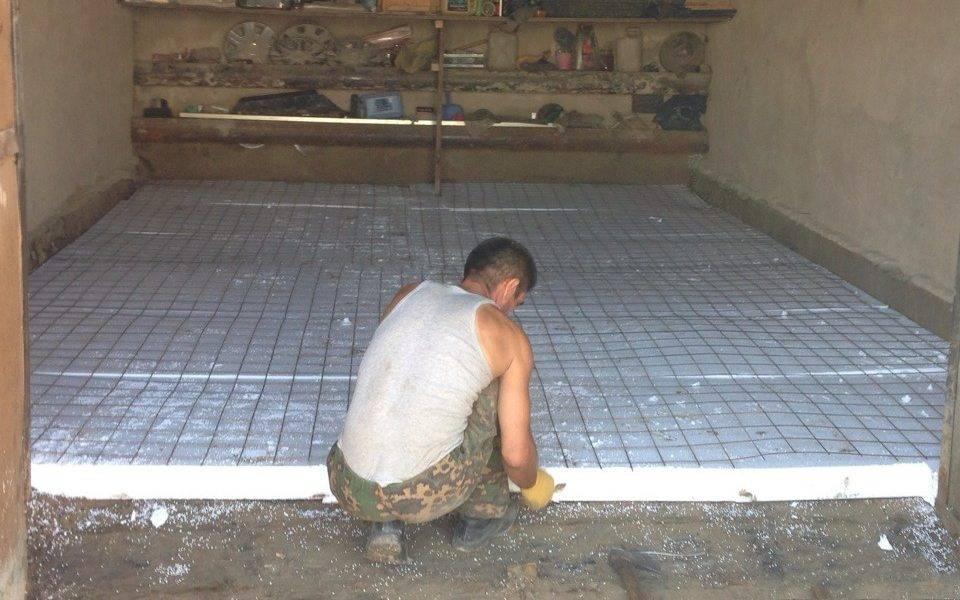 Как сделать пол в гараже из досок: укладка на грунт и бетонное основание