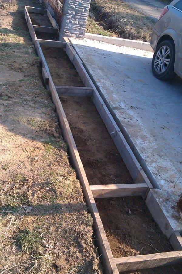 Фундамент под гараж из газобетона своими руками