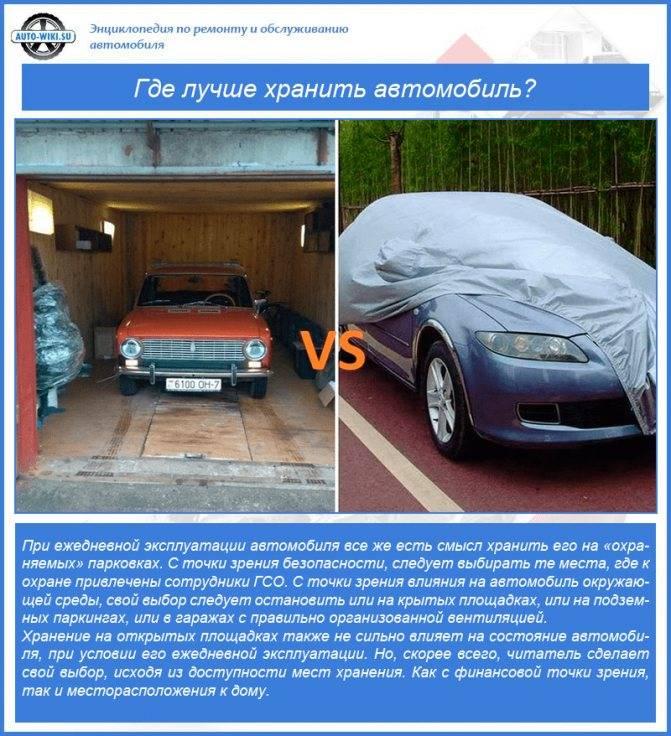 Автомобиль: руководство для долгого хранения в гараже - за баранкой - медиаплатформа миртесен