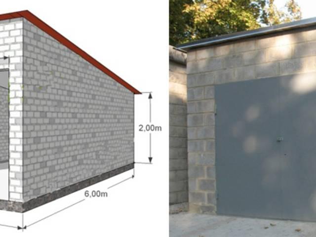 Как правильно строить гараж из блоков?