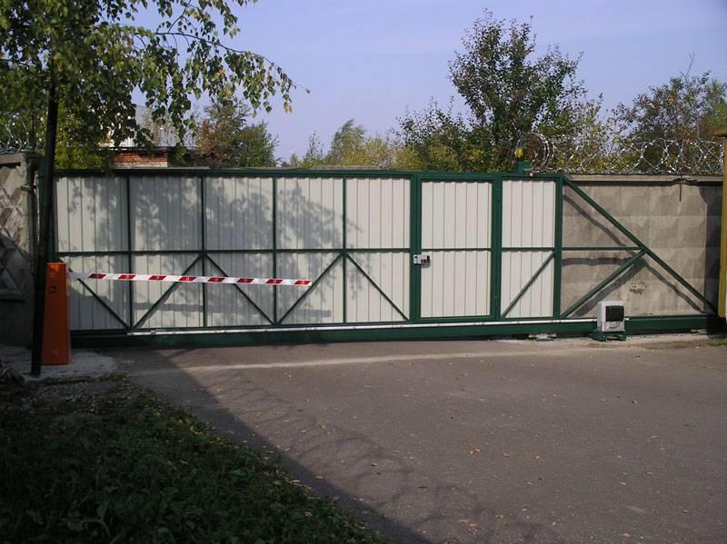 Изготовление раздвижных откатных ворот своими руками