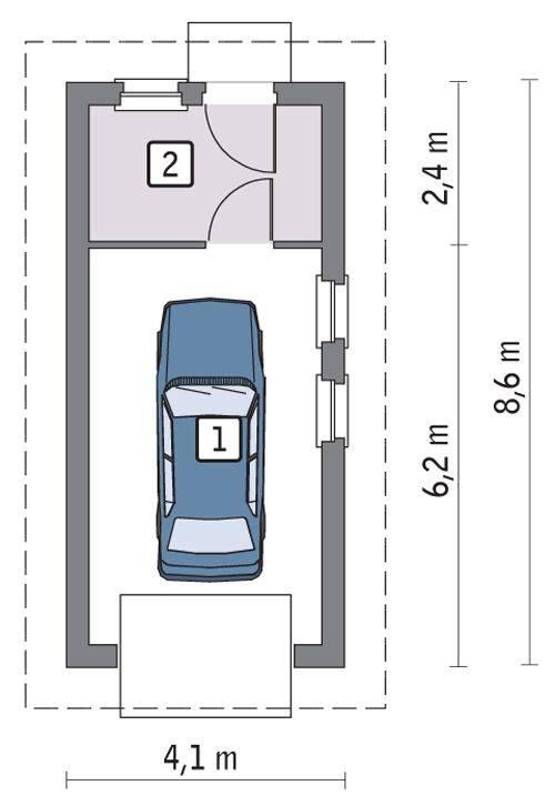12 проектов гаражей с планами и размерами