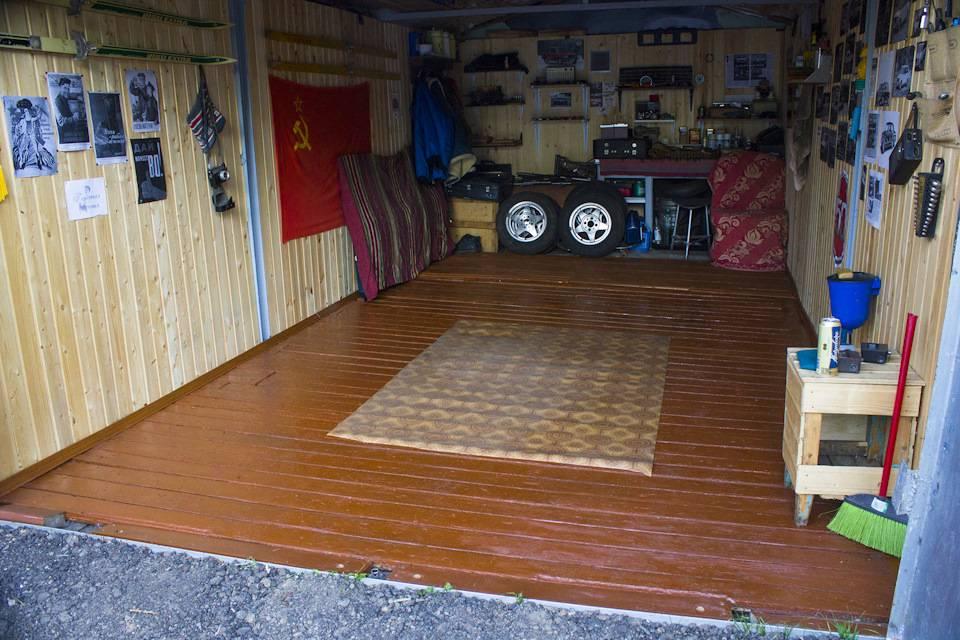 Пол в гараже: что лучше выбрать бетон или дерево, технология строительства и фото