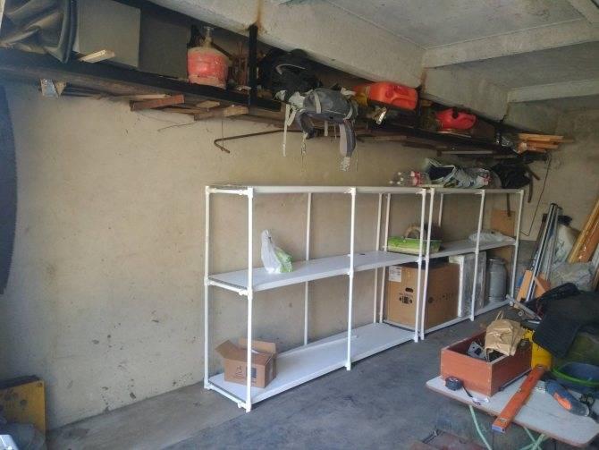 Делаем стеллаж в гараже своими руками