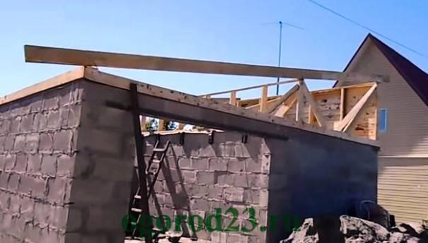 Как сделать односкатную крышу на гараже – правила и последовательность монтажа