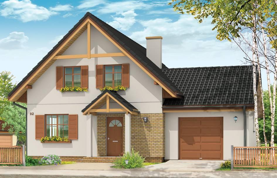 Проекты домов с гаражом под одной крышей: 70 лучших готовых идей