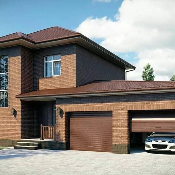 Кирпичные дома с гаражом – проекты, особенности