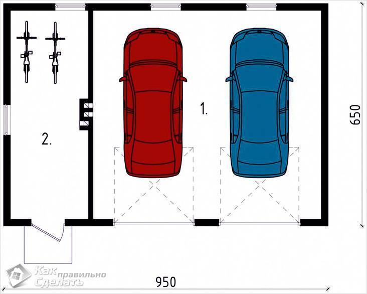 Оптимальные размеры гаража на 1 машину