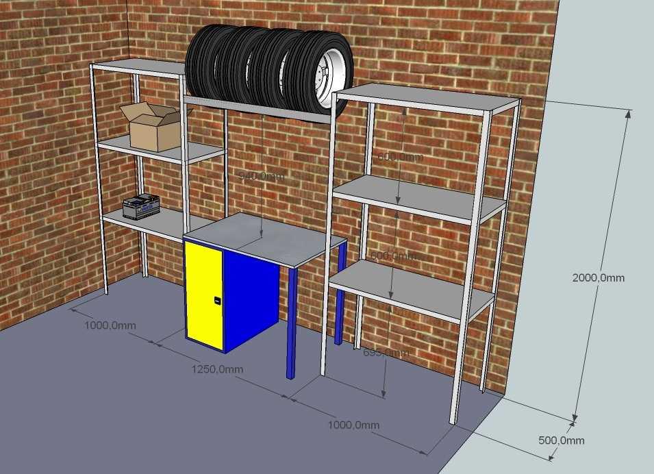 Металлические стеллажи для гаража своими рукми: сборные, разборные, порядок сборки