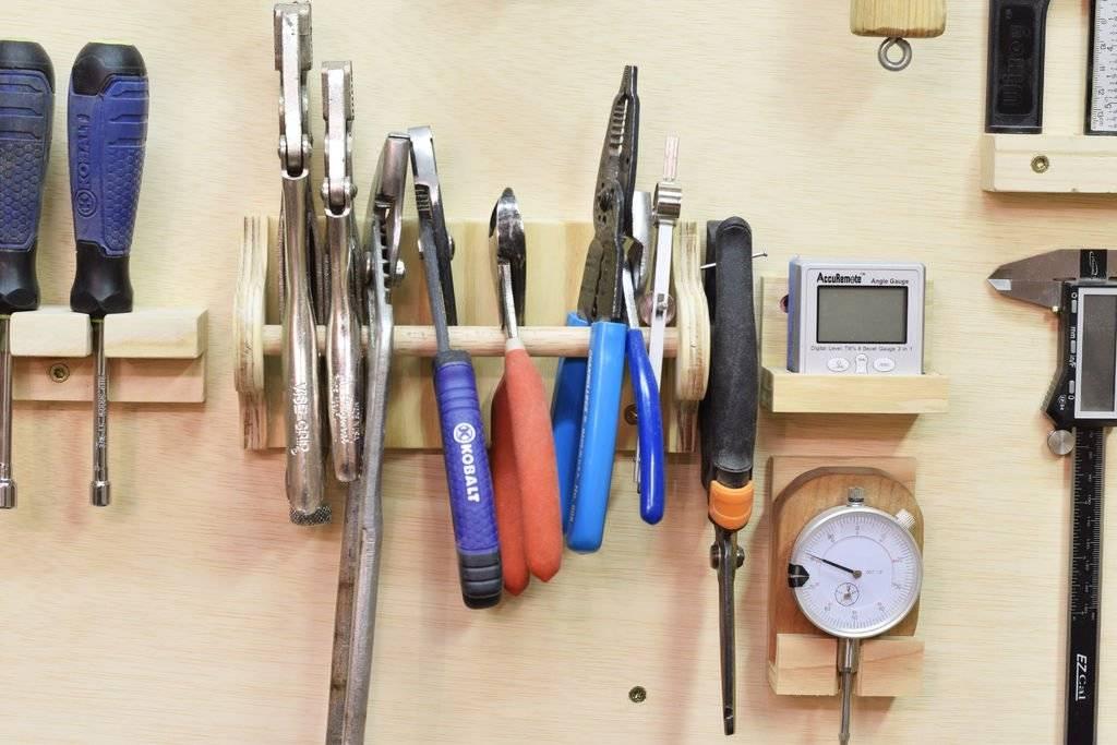 Как развесить инструменты на стене в гараже: лучшие идеи + инструкции по изготовлению систем хранения