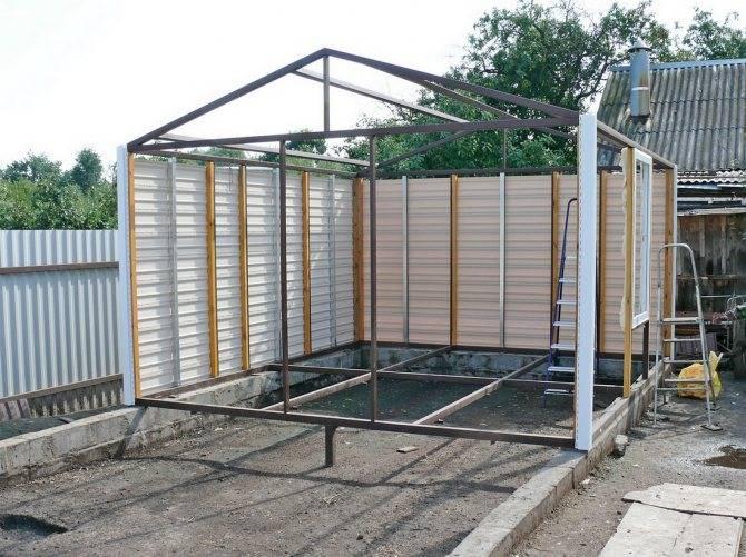 Технология сооружения гаража из металлопрофиля