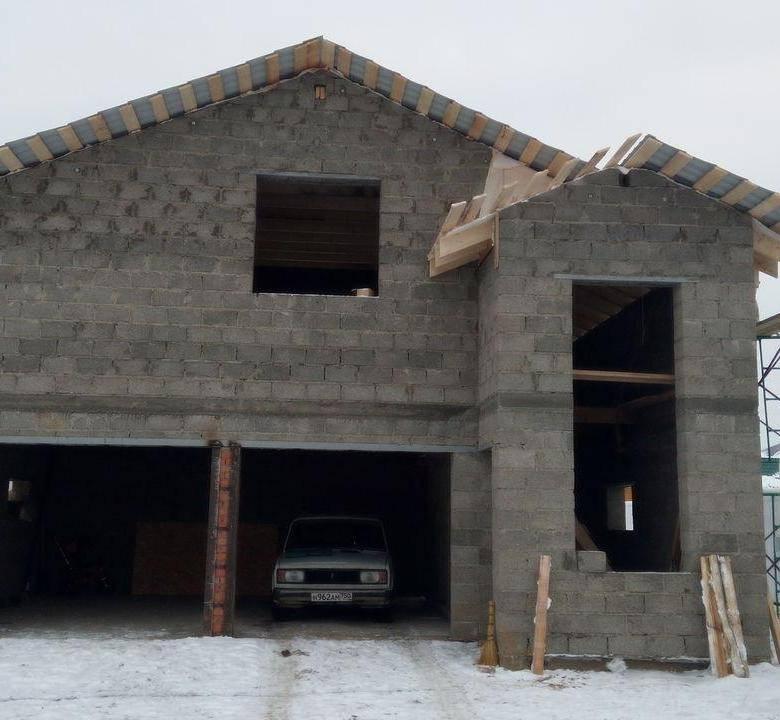 Как построить гараж из шлакоблоков