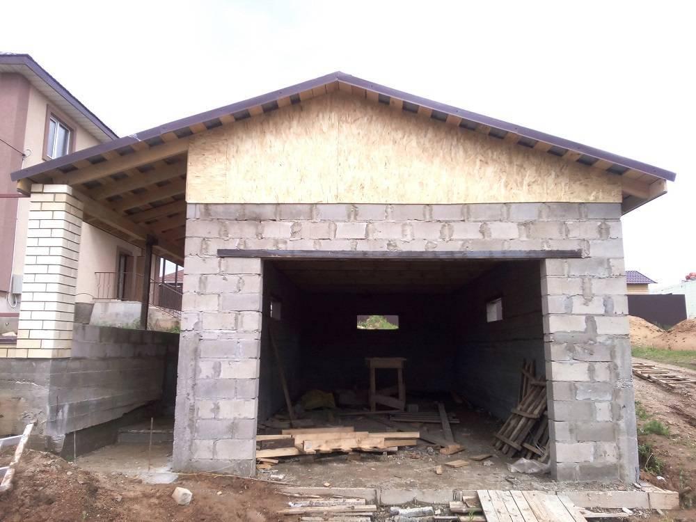 Плюсы и минусы гаража из шлакоблока: особенности постройки, фото-материалы