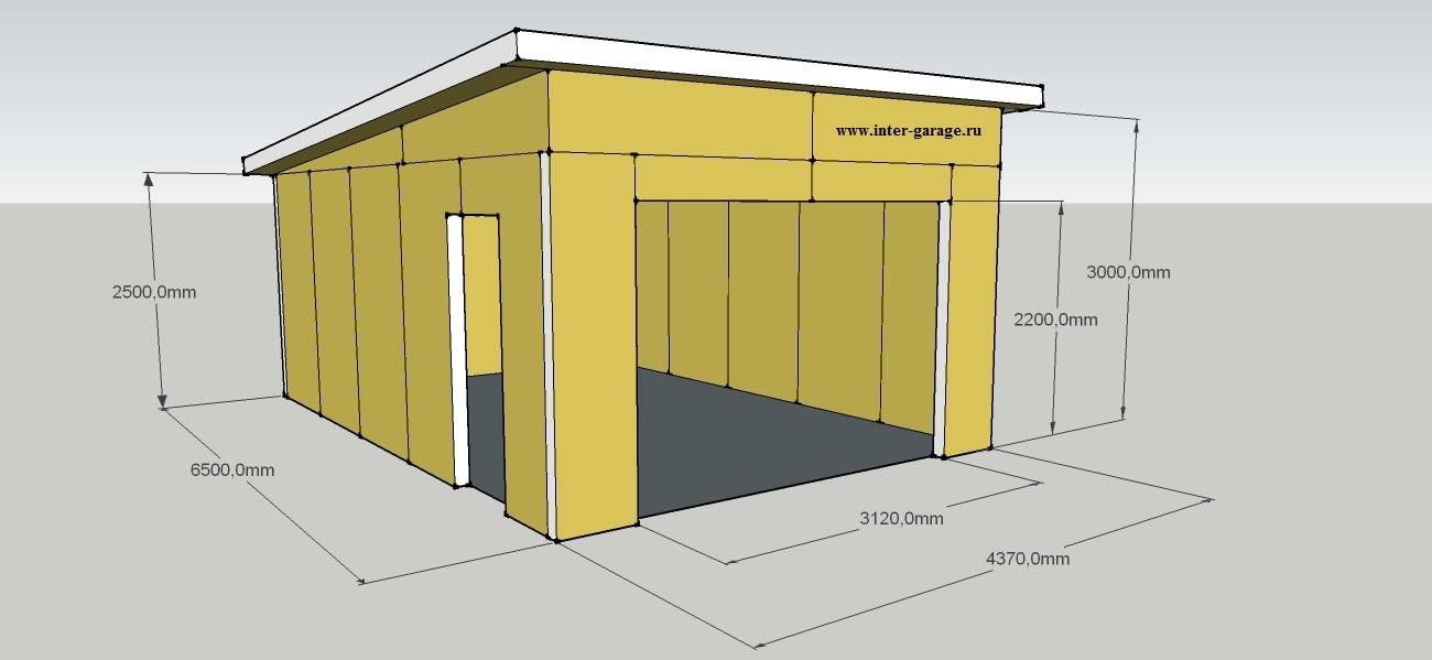 Самостоятельная постройка гаража из дерева
