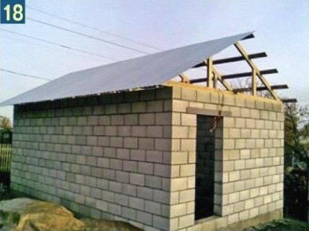 Рекомендации строителей, как правильно сделать односкатную крышу на гараже самостоятельно