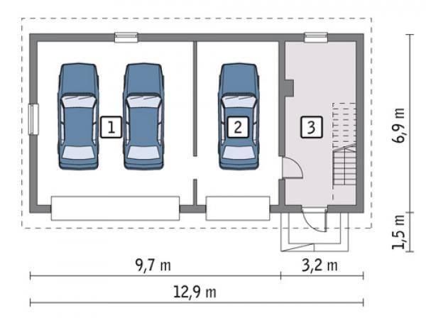 Проекты гаражей с хозблоком (с хозяйственной частью): варианты построек