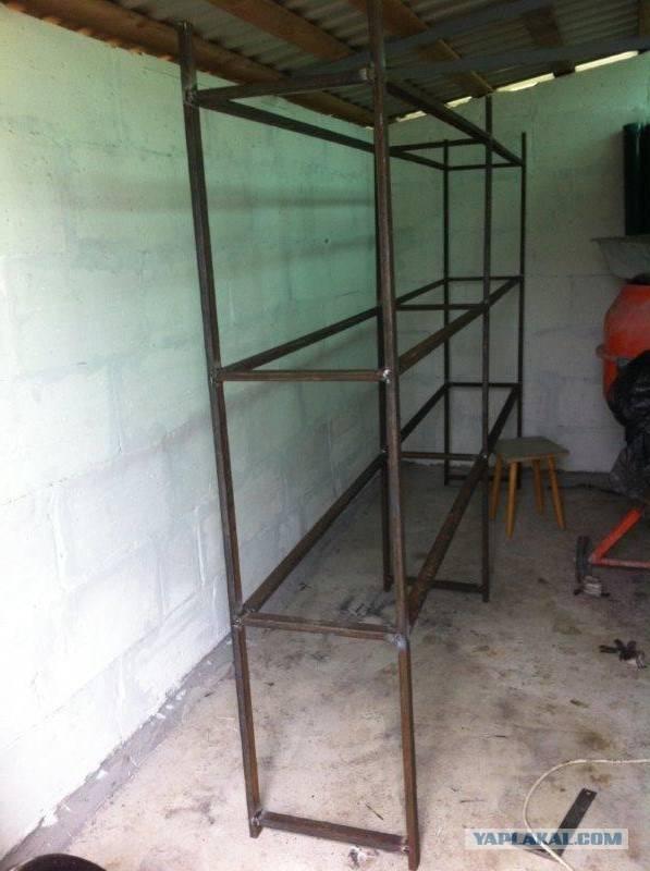 Стеллаж из профиля своими руками — как соорудить систему хранения для гаража, кладовки или балкона