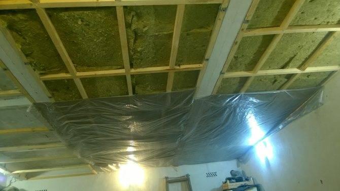 Утепление потолка в гараже: как и чем утеплить изнутри своими руками