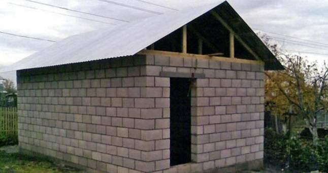 Из какого блока лучше построить гараж