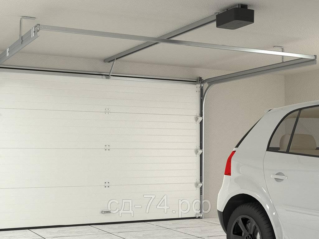 Ворота гаражные с электроприводом распашные
