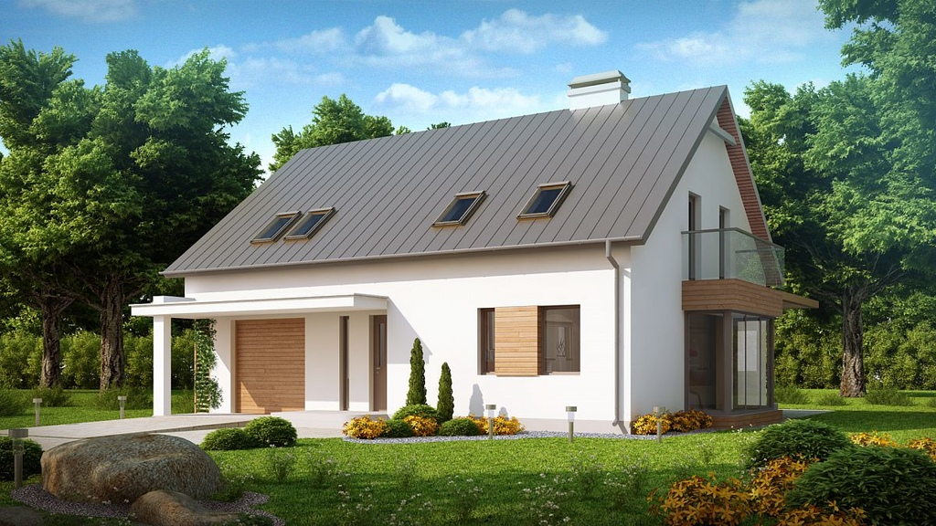 Проекты двухэтажных домов с гаражом: планировки компактных и современных коттеджей