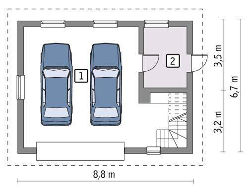 Готовые проекты гаражей отдельностоящих от дома