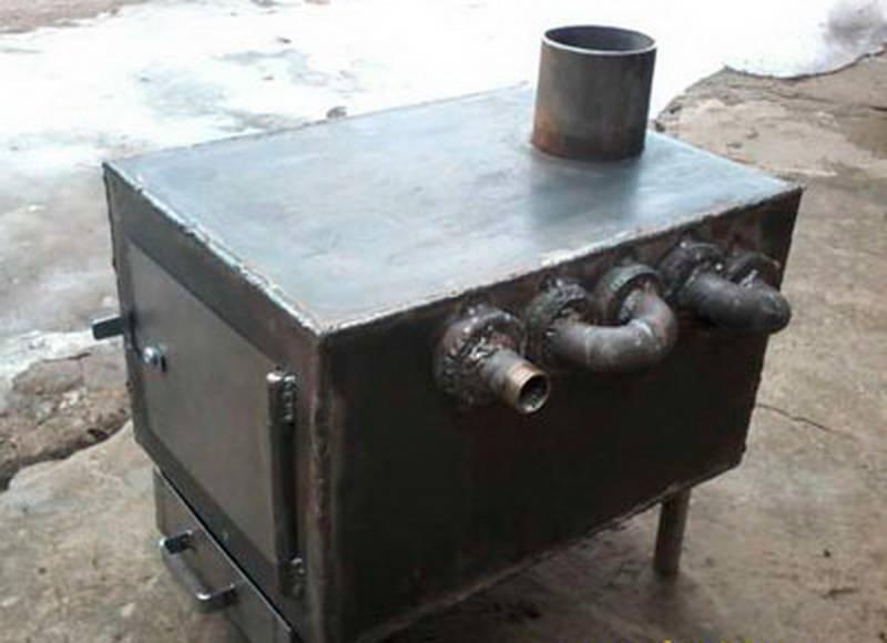 Печь для гаража с водяным контуром: дровяное отопление буржуйкой