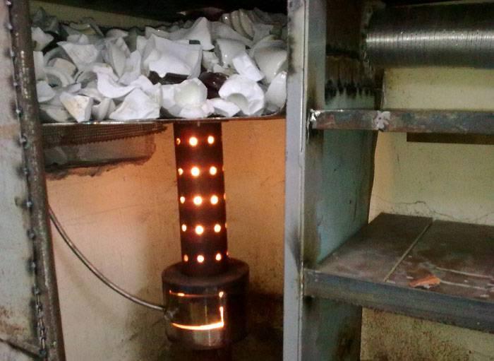 Как работает печь на отработке капельного типа, сделанная своими руками?