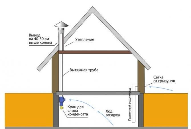 Как правильно сделать вытяжку в погребе - схема системы вентиляции своими руками