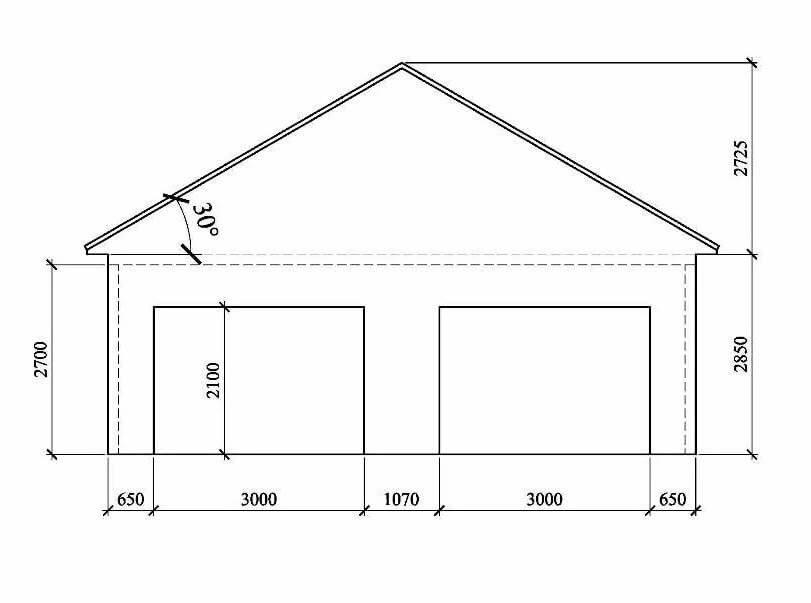 Размеры гаража для легкового автомобиля: высота, ширина