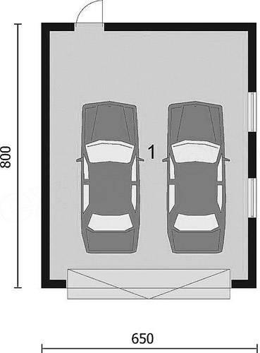 Оптимальный размер гаража на 1 машину: высота гаража под легковой автомобиль
