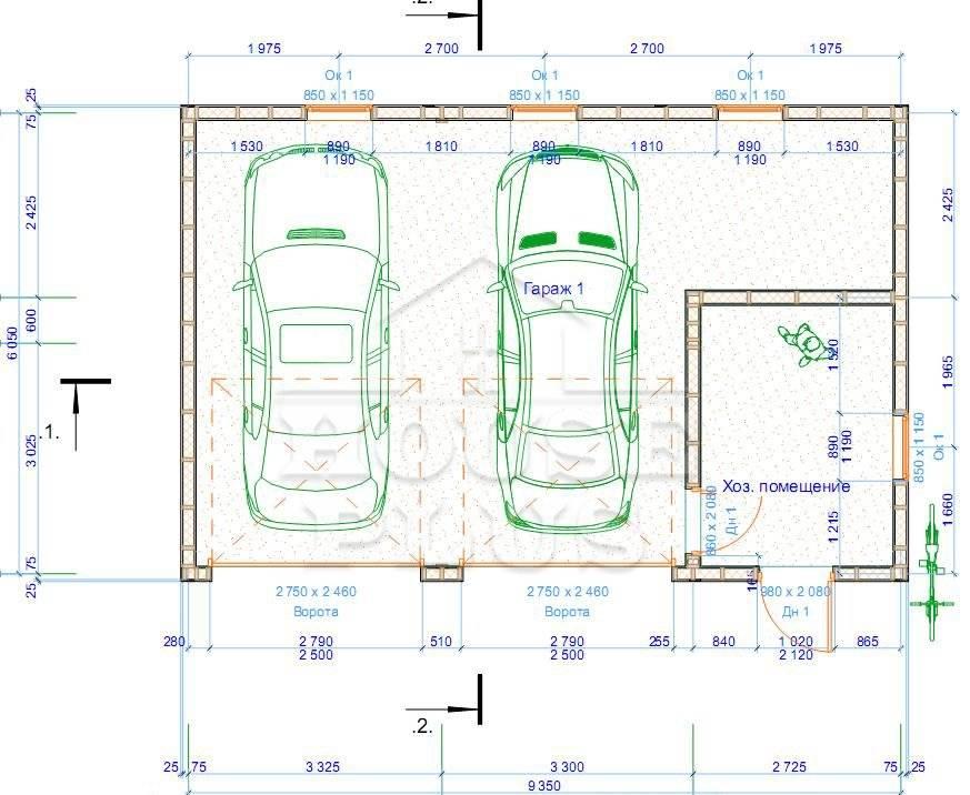 Планировка гаража 6х4 - варианты планировки