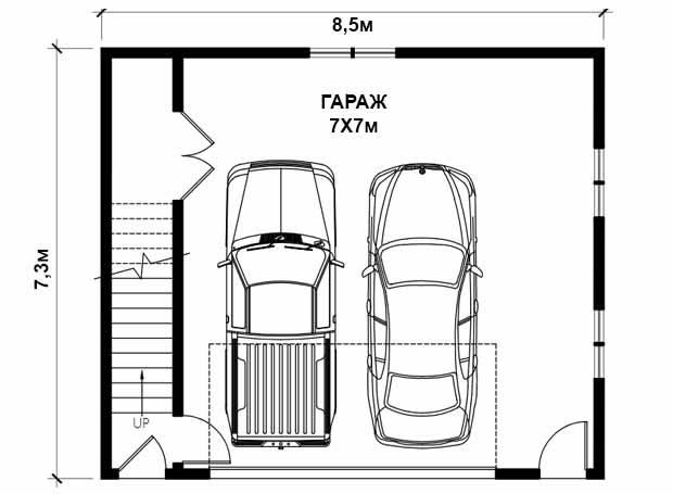 Оптимальные размеры высоты, ширины и длины гаража на 1 машину в частном доме