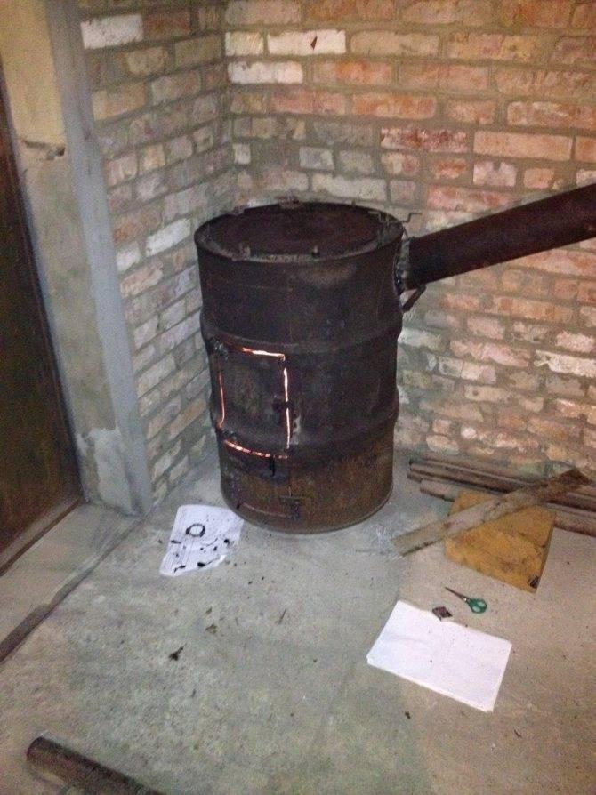 Как сделать кирпичную печь на дровах в гараж своими руками?