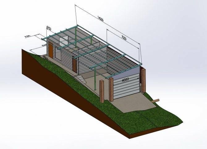 Фундамент для металлического гаража: правильный выбор и изготовление