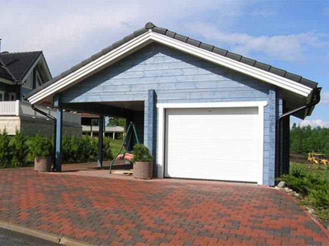 Особенности конструкции навеса для гаража и выбор материала: плюсы и минусы- пошаговая инструкция и фото