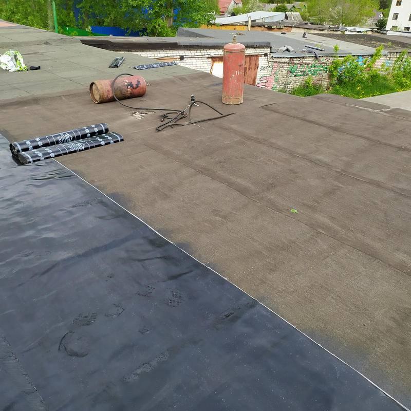 Как укладывать бикрост на крышу гаража своими руками для перекрытия