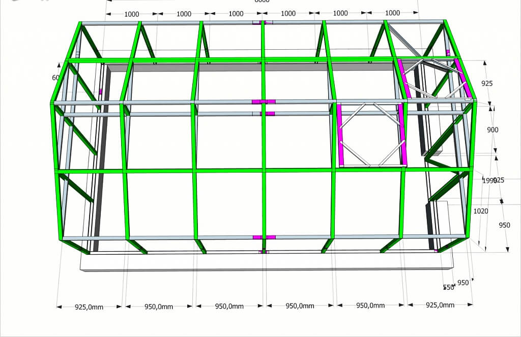 Строительство своими руками каркасного гаража из профильной трубы