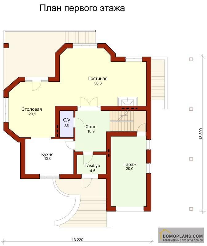 Проекты коттеджей с гаражом и цоколем