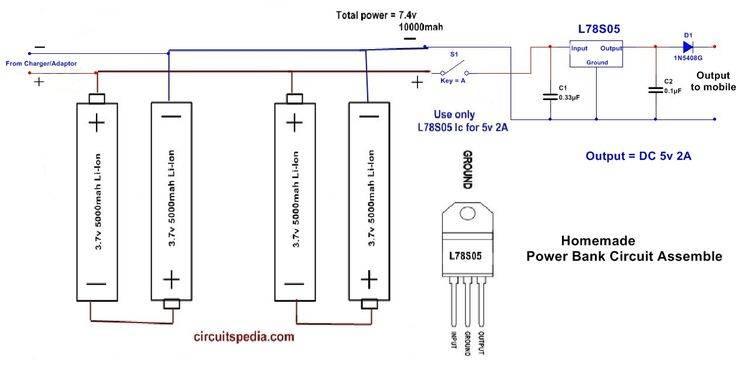 Power bank схема принципиальная