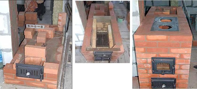 Печь из кирпича для дачи: как сложить кирпичную дачную, отопительно варочную печку на дровах своими руками, кладка, чертеж, фото