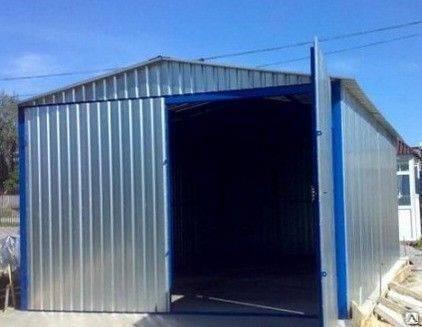 Разборный металлический заводской гараж